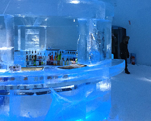ice bar at the ice hotel in sweden