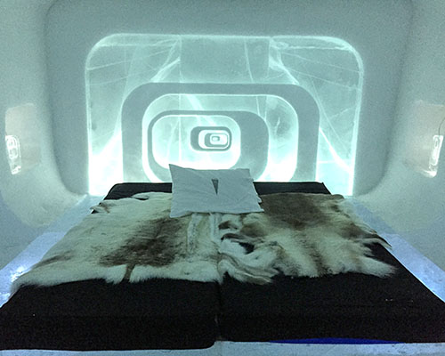 Ice Hotel bedroom