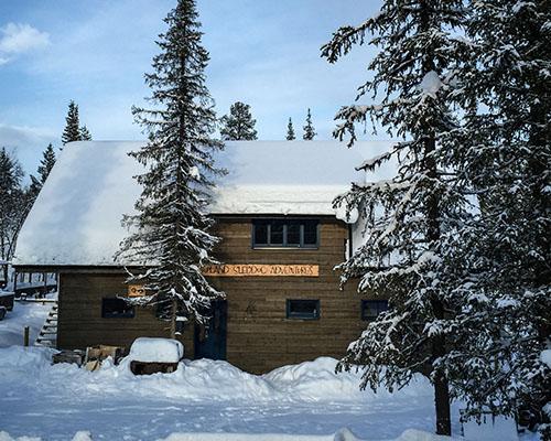 Lapland Sleddog Adventures rustic lodge