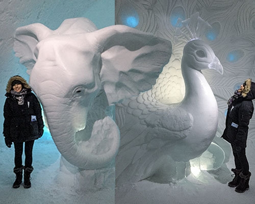 Sculptures at the Ice Hotel