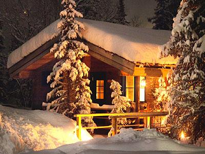 sauna in the snow Sweden