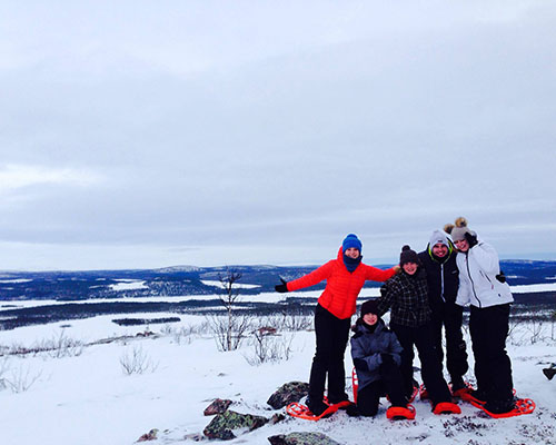 Snowshoeing in the Swedish wilderness