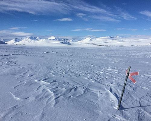 The arctic landscape snow