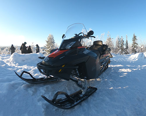 Lapland Sleddog Adventures snowmobile machine